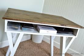 Diy Desk Storage by Diy Farmhouse Modern Desk With Open Front Storage Cubby Make