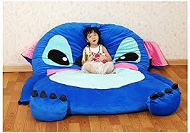 bean bag sofa bed amazon com cute cartoon lilo stitch image sleeping bag sofa bed