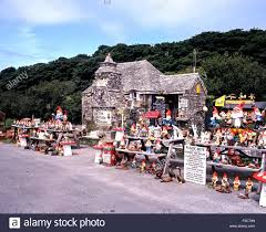 view of the pixie house gift shop tintagel cornwall england uk