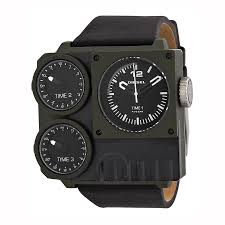 diesel super bad triple time zone black and green pvd men u0027s
