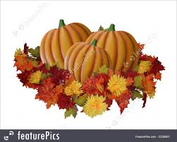 halloween fall background illustration of halloween pumpkins and fall leaves isolated