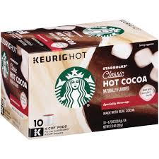 starbucks classic cocoa k cup pods 10 ct box walmart