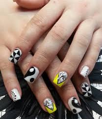 233 best black u0026 white nail art images on pinterest nails