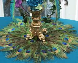 peacock centerpieces sale ready to ship 22 peacock feather place mat or centerpiece