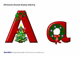 themed letters christmas themed display lettering sb1884 sparklebox