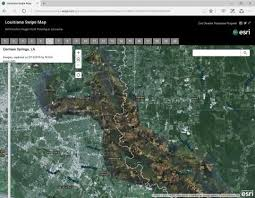 louisiana map areas noaa imagery of flooded areas apa louisiana chapter