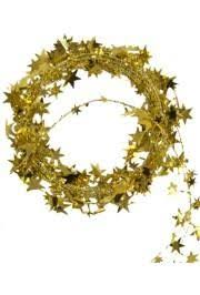 met gold wire garland