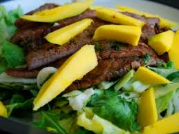 si鑒e タ roulettes grilled flank steak salad with mango manners culinary