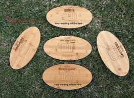 engraved football gifts pt gifts and awards personalised engraved bamboo serving board