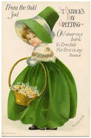 vintage image st patrick u0027s day darling in green the
