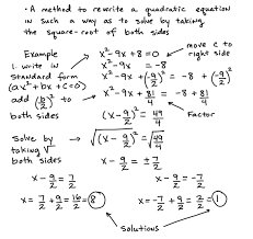 Solving Equations By Factoring Worksheet Steps In Solving Quadratic Equations By Completing The Square Pdf