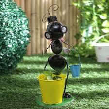 flower pot solar light black ant with solar light planter mybageecha