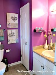 purple bathroom simple girly touches to make this space just