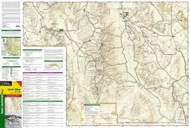 Sequoia National Park Map Death Valley National Park National Geographic Trails Illustrated