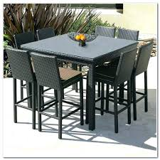 Patio Chairs Bar Height Bar Height Outdoor Dining Table Set Bar Height Dining Table