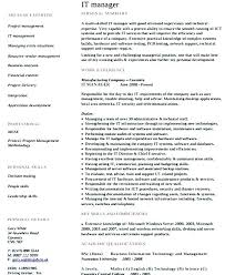 it resume template it manager resume template collaborativenation
