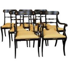 Antique Regency Dining Chairs Regency Dining Room Chairs 130 For Sale At 1stdibs