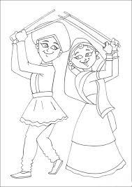 navratri dussehra festival coloring pages family holiday net