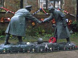 all together now christmas truce memorial cemeteries and