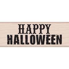 hero arts wood mounted rubber stamp happy halloween
