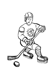 free coloring pages hockey