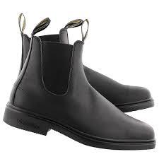 blundstone unisex chisel toe black pull on boots uk sizing