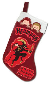 amazon com accoutrements krampus christmas stocking home u0026 kitchen