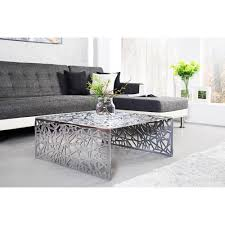 Wohnzimmer Tisch Hoch Beistelltisch Wohnzimmertisch Astor 75 Cm Silber Aluminium