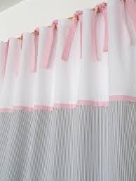 kinderzimmer gardinen rosa gardinen vorhänge 2 vorhänge grau weiß streifen rosa ein