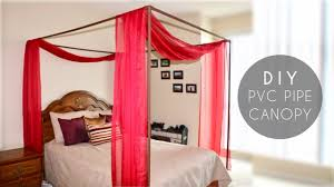 diy canopy bed diy pvc pipe bed canopy youtube