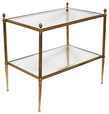 brass and glass end tables brass and glass end table table designs
