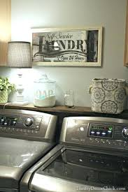 Laundry Room Decorating Accessories Laundry Room Decor Rustic Wood Crate Laundry Counter Vintage