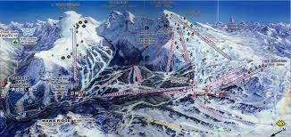 Canadian Rockies Map Canada Ski Banff Sunshine Village Canadian Rockies Western