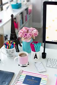 pink and blue desk accessories simplified planner studio
