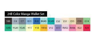copic sketch marker 24 piece set manga wallet 24b icopic com
