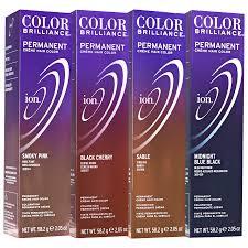 ion color brilliance permanent creme 2b midnight blue black