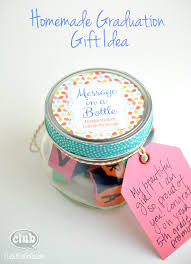 gift ideas for graduation message in a bottle graduation gift idea club chica