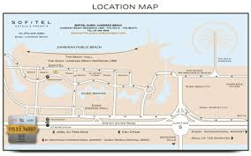 Metro Station In Dubai Map by Sofitel Dubai Jumeirah Beach Around The Hotel