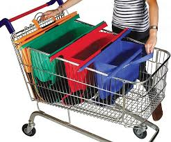 Mini Shopping Cart Desk Organizer Fold Out Shopping Cart Bags