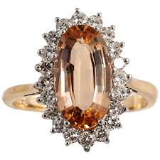 gold topaz rings images Imperial topaz diamond gold cocktail ring for sale at 1stdibs jpg
