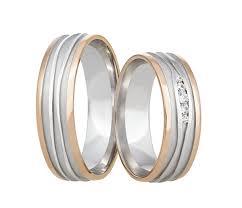 rydl prsteny masivní snubní prsteny v kombinaci bílého a červeného zlata zdobí
