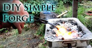 how to make a simple diy blacksmiths forge youtube