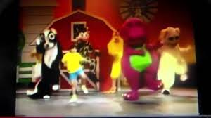 barney and the backyard gang intro barney in concert youtube