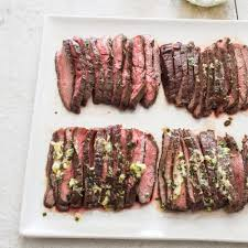 pan seared flank steak with mustard chive butter cook u0027s illustrated