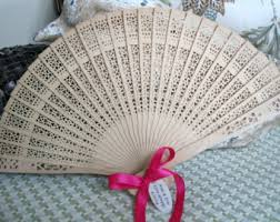 sandalwood fans country wedding fans etsy