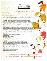 robin s restaurant thanksgiving