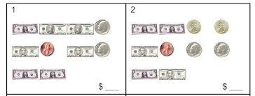 money coins u0026 bills worksheet sample