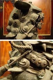 shishi statue japanese shishi vintage 1940 s japanese wood lacquer top quality
