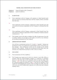 11 best images of employee work contract agreement sample