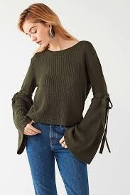 bell sleeve sweater silence noise justine bell sleeve sweater autumn